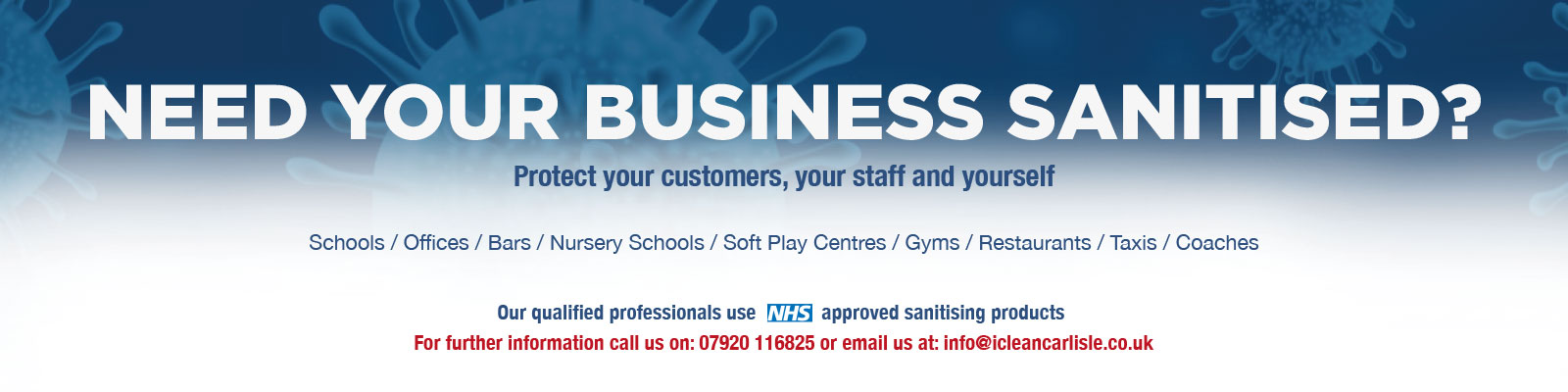 Need your business sanitised?